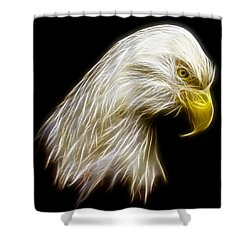 Bald Eagle Fractal Shower Curtain by Adam Romanowicz