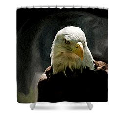 Bald Eagle Giving You That Eye Shower Curtain
