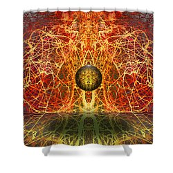 Shower Curtain featuring the digital art Ball And Strings by Otto Rapp