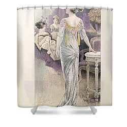 Ball Gown Shower Curtain by French School
