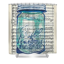 Ball Jar Classical  #132 Shower Curtain by Ecinja Art Works