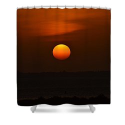 Shower Curtain featuring the photograph Ball Of Fire by Debra Martz