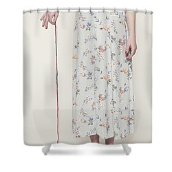 Ball Of Wool Shower Curtain by Joana Kruse