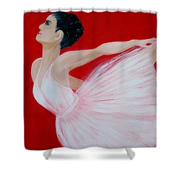 Ballerina.  Grace. Inspirations Collection Shower Curtain
