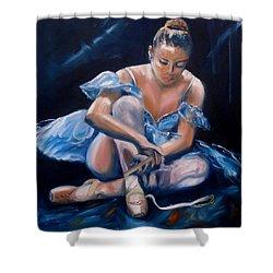 Ballerina II Shower Curtain by Donna Tuten