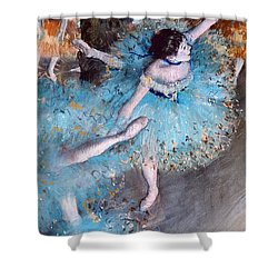 Ballerina On Pointe  Shower Curtain by Edgar Degas