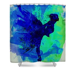 Ballerina On Stage Watercolor 2 Shower Curtain by Naxart Studio
