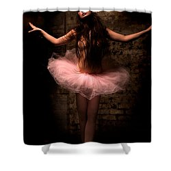 Ballerina Shower Curtain by Tbone Oliver