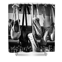Shower Curtain featuring the photograph Ballet At The Bar by Peta Thames