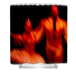 Ballet Blur 1 Shower Curtain by Paulo Guimaraes