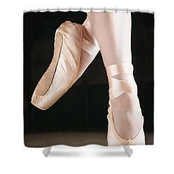 Ballet Dancer En Pointe Shower Curtain by Don Hammond