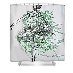 Ballet Shower Curtain by Gloria Ssali