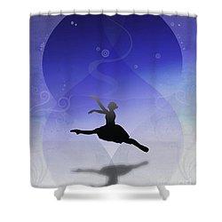 Ballet In Solitude  Shower Curtain by Bedros Awak