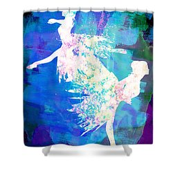 Ballet Watercolor 2 Shower Curtain by Naxart Studio