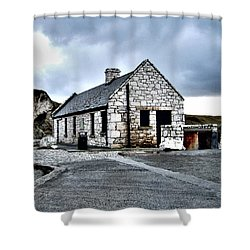 Ballintoy Stone House Shower Curtain