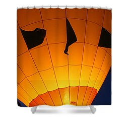 Ballon-glowyellow-7703 Shower Curtain by Gary Gingrich Galleries