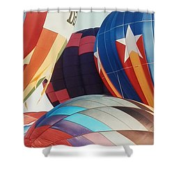 Miami Balloon Fesitval Shower Curtain by Belinda Lee