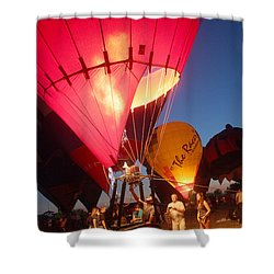 Balloon-glow-7831 Shower Curtain by Gary Gingrich Galleries