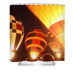 Balloon-glow-7950 Shower Curtain by Gary Gingrich Galleries