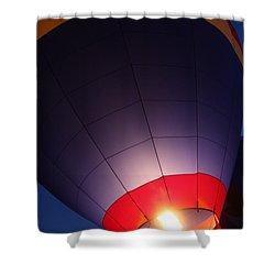 Balloon-glowpurple-7710 Shower Curtain by Gary Gingrich Galleries