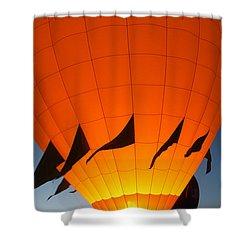 Balloon-glowyellow-7689 Shower Curtain by Gary Gingrich Galleries