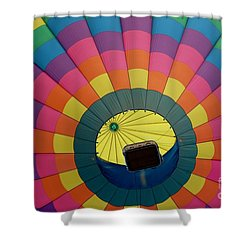 Balloon Lift-off  Shower Curtain