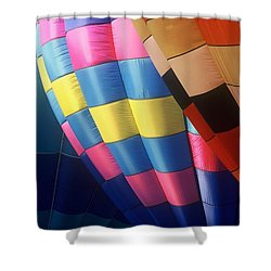Shower Curtain featuring the photograph Balloon Patterns by Rodney Lee Williams