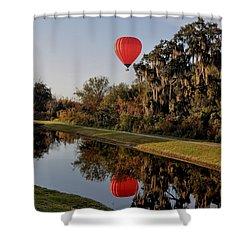 Balloon Reflection Shower Curtain by John Black