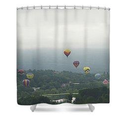 Balloon Rise Over Quechee Vermont Shower Curtain