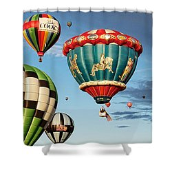 Shower Curtain featuring the photograph Balloons Away by Dave Files