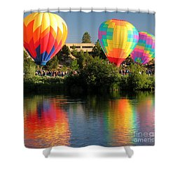 Balloons Over Bend Oregon Shower Curtain