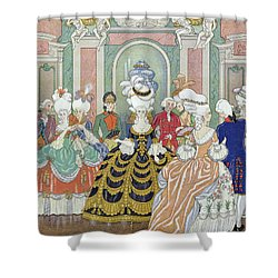 Ballroom Scene Shower Curtain by Georges Barbier