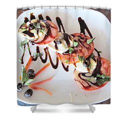 Balsamic Salad Shower Curtain by Donna Wilson