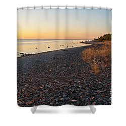 Shower Curtain featuring the photograph Baltic Sea Coast by Kennerth and Birgitta Kullman