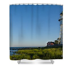 Shower Curtain featuring the photograph Baltic Sea Lighthouse by Kennerth and Birgitta Kullman