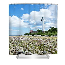 Baltic Sea Lighthouse Shower Curtain