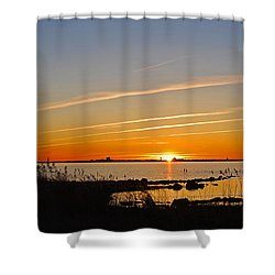 Shower Curtain featuring the photograph Baltic Sea Sunset by Kennerth and Birgitta Kullman