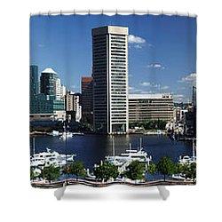 Baltimore Inner Harbor Panorama Shower Curtain