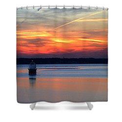 Baltimore Light At Gibson Island Shower Curtain