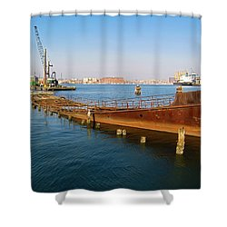 Shower Curtain featuring the photograph Baltimore Museum Of Industry by Brian Wallace