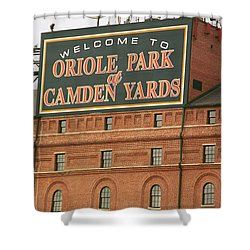 Baltimore Orioles Park At Camden Yards Shower Curtain