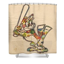 Baltimore Orioles Vintage Logo Shower Curtain