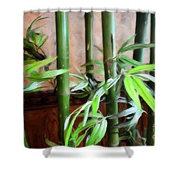 Shower Curtain featuring the photograph Plant -  Bamboo  -  Luther Fine Art by Luther Fine Art