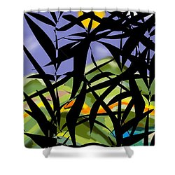 Bamboo Shower Curtain by Christine Fournier