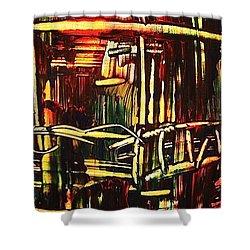 Bamboo Shower Curtain by Janice Nabors Raiteri
