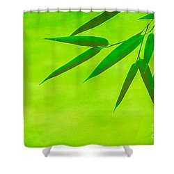 Bamboo Leaves Shower Curtain by Hannes Cmarits