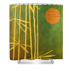 Bamboo Moon Shower Curtain by Desiree Paquette