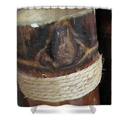 Bamboo Node On Rain Stick Shower Curtain