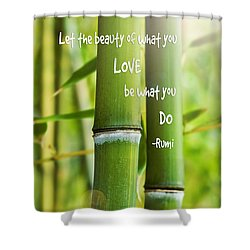 Rumi Quote Bamboo I Shower Curtain