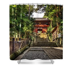 Bamboo Temple Shower Curtain by John Swartz